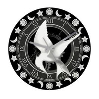 Tick Tock MockingJay on a Wall Clock>  Tick Tock This Is a Clock> Dave and Queenie's Gifts etc