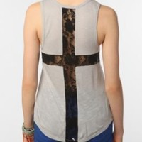 Sparkle & Fade Lace Cross Tank