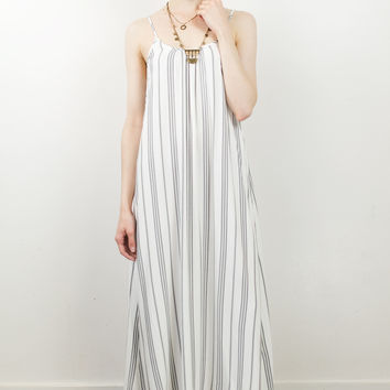 River Tie Back Maxi Dress