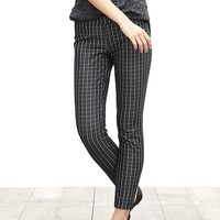 Banana Republic Womens Sloan Fit Windowpane Slim Ankle Pant