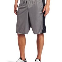 Reebok Men's East Coast Mesh Short (Medium Grey/Black, Large)