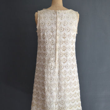 SALE - 40% OFF SALE 60s dress / short wedding dress / Jade