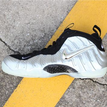 """[ Free  Shipping ]Nike Air Foamposite Pro""""Silver Age"""" 616750-004  Running  Sneaker"""