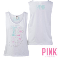 Boston Red Sox Victoria's Secret PINK® Flag Muscle Tank - MLB.com Shop