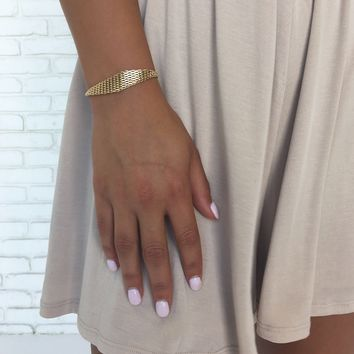 Just Enough Adjustable Bracelet In Gold