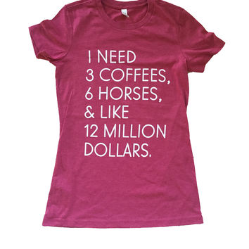 "The ""I Need"" Equestrian Tee - Pink Tri-Blend"