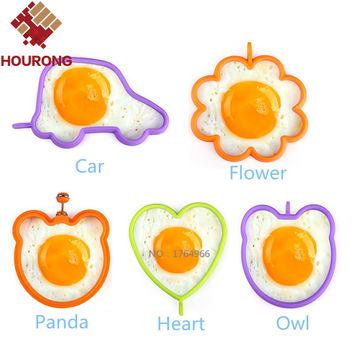 Hourong 1Pcs Silicone Egg Mold  Flower Heart Car Owl Fried Egg Pancake Rings Non-stick Egg Cooking  cozinha Tool  Kitchen Gadget