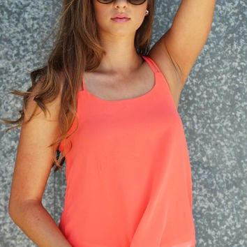 Baby I'm Worth It Tank {Coral}