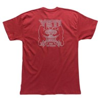 COAT OF ARMS TEE SHIRT IN BRICK RED BY YETI
