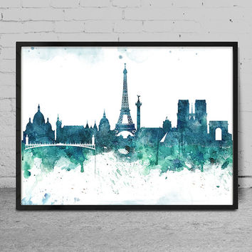 Watercolor Art print PARIS, Paris Art Print, Wall Art Print, Wall decor, Watercolor Painting, Watercolor Art Poster, Wall Art -x74