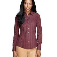 Non-Iron Tailored Fit Tattersall Shirt - Brooks Brothers