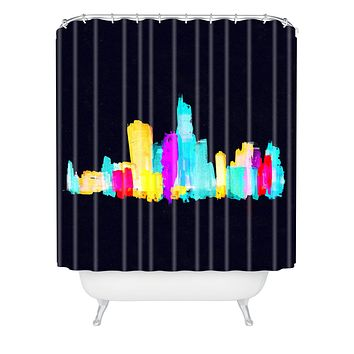 Robert Farkas Colour City Shower Curtain