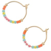 Topshop Small Seed Bead Hoop Earrings | Nordstrom
