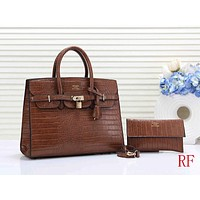 Hermes Women Fashion Leather Tote Shoulder Bag Satchel Crossbody