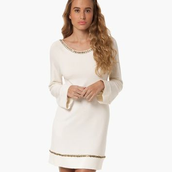 SOFIA SOLID OFF WHITE EMBROIDERY SHORT DRESS | V i X Paula Hermanny