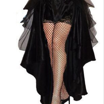 free shipping Gothic Victorian Steampunk Burlesque Taffeta Lace Bustle Prom Wedding Skirt S-6XL