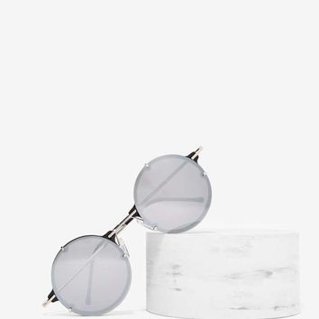 Spitfire Infinity Circle Shades - Silver Mirror