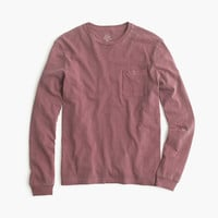 J.Crew Mens Long-Sleeve Garment-Dyed T-Shirt