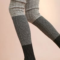 Ombre Over-The-Knee Cableknit Socks