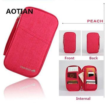 CREYCI7 AOTIAN 2017 Brand Travel Journey Document Organizer Wallet Passport ID Card Holder Ticket Credit Card Bag Case Free Shipping