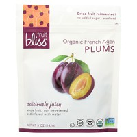 Fruit Bliss Organic Dried Plums - 5 Ounce - 6 per case.