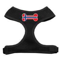 Bone Flag Norway Screen Print Soft Mesh Harness Black Extra Large