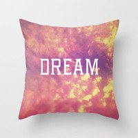 Dream  Throw Pillow by Rachel Burbee | Society6