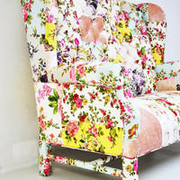 Custom order- floral Wing Back-patchwork sofa