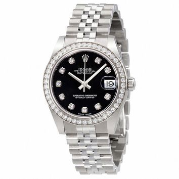 Rolex Datejust Lady 31 Black Dial Stainless Steel Rolex Jubilee Automatic  Watch