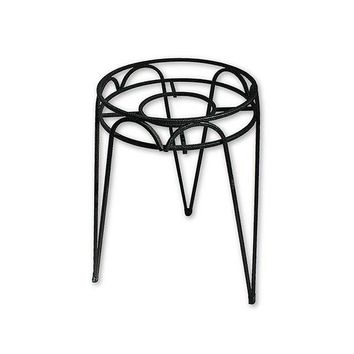 "Border Concepts 72245 Wrought Iron Hampton Plant Stand, Black, 10"" x 21"""