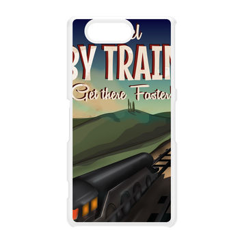 Travel by train White Hard Plastic Case for Sony Xperia Z3 Mini by Nick Greenaway