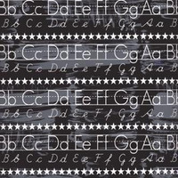 Back to School Backdrop Chalkboard Alphabet Photography Background Photo Prop Kids drop Durable Matte Vinyl (Multiple Sizes Available)