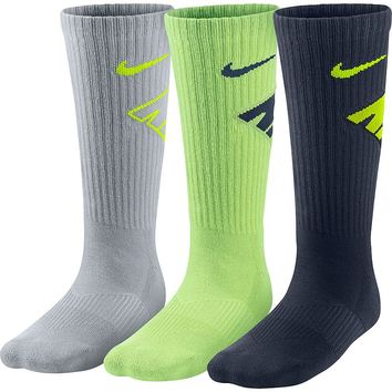Nike 3-Pack Neon Graphic Crew Socks - Boys, Size: