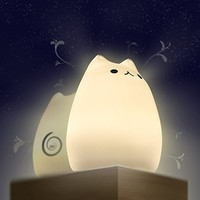 Night Lights for Kids,ZNT Moe Breathing Light ,Children's Night Light with Unique Breathing Mode,Up to 24 hours Playtime
