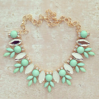 MIRRORED BEAUTY IN MINT NECKLACE