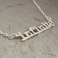 Infinite Cutout Sterling Silver Handmade Necklace