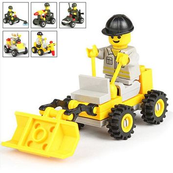 DCCKL72 Military Engineering Plastic Toy Bricks Early Childhood Eduional Toys Boy Small Particles Assembled Model Building Kits Block