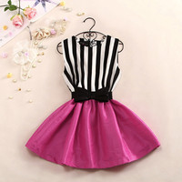 A 081705 Striped vest dress827