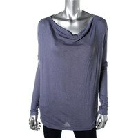 Three Dots Womens Knit Cowl Neck Pullover Top