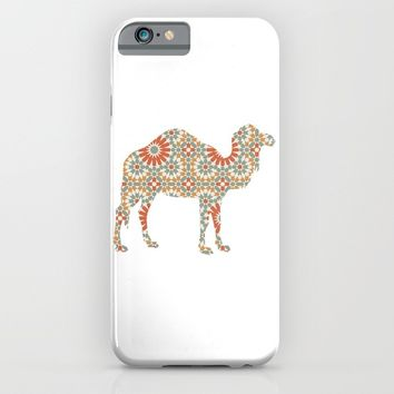 CAMEL SILHOUETTE WITH PATTERN iPhone & iPod Case by deificus Art