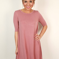 All Ya Need Shift Dress in Blush