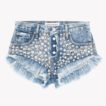 Starstruck Wildest Acid Studded Babe Shorts