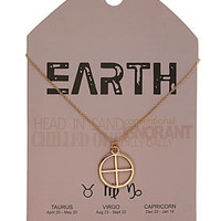 Earth Symbol Necklace