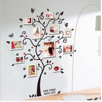 Large Size Family Photo Frame Tree Wall Sticker Stickers Home Decor Living Room Bedroom Decals 45*60CM = 1946032260