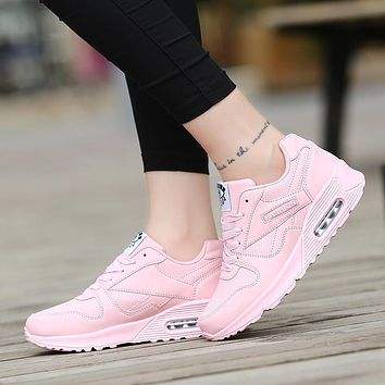 Women Sport Running Pink Shoes