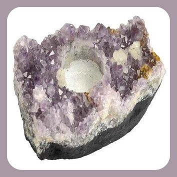 Amethyst Tealight Candle Holder