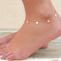 Gift New Arrival Shiny Cute Sexy Jewelry Ladies Vintage Stylish Metal Summer Beach Anklet [8080504903]