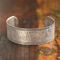 Free People  Vintage Textured Silver Cuff at Free People Clothing Boutique