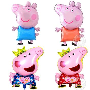 July Forest Free Shipping New Cute Pig Toy Kids Air Foil Balloons Cartoon Pink Pig for Kids Funny party & birthday decoration