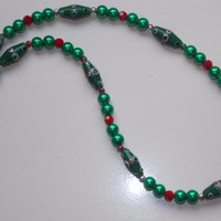 Christmas Lampwork Necklace